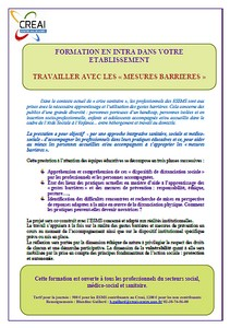visuel formation mesures barriere
